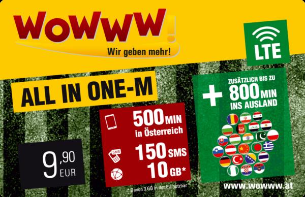 Wowww All-in-One Datenpaket mit Mobilfunk