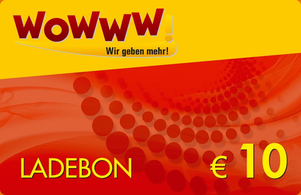 Wowww Ladebon 10 €