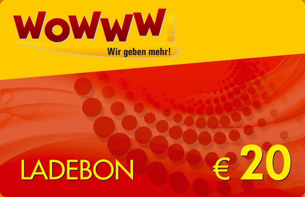 Wowww Ladebon 20 €