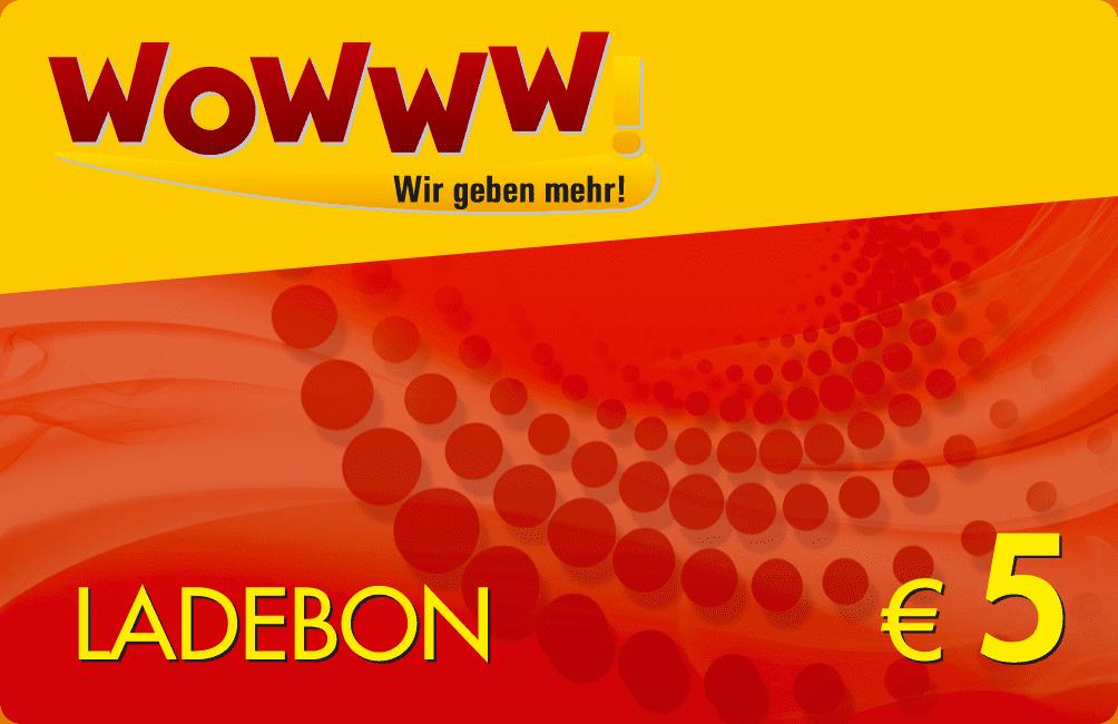 Wowww Ladebon 5€